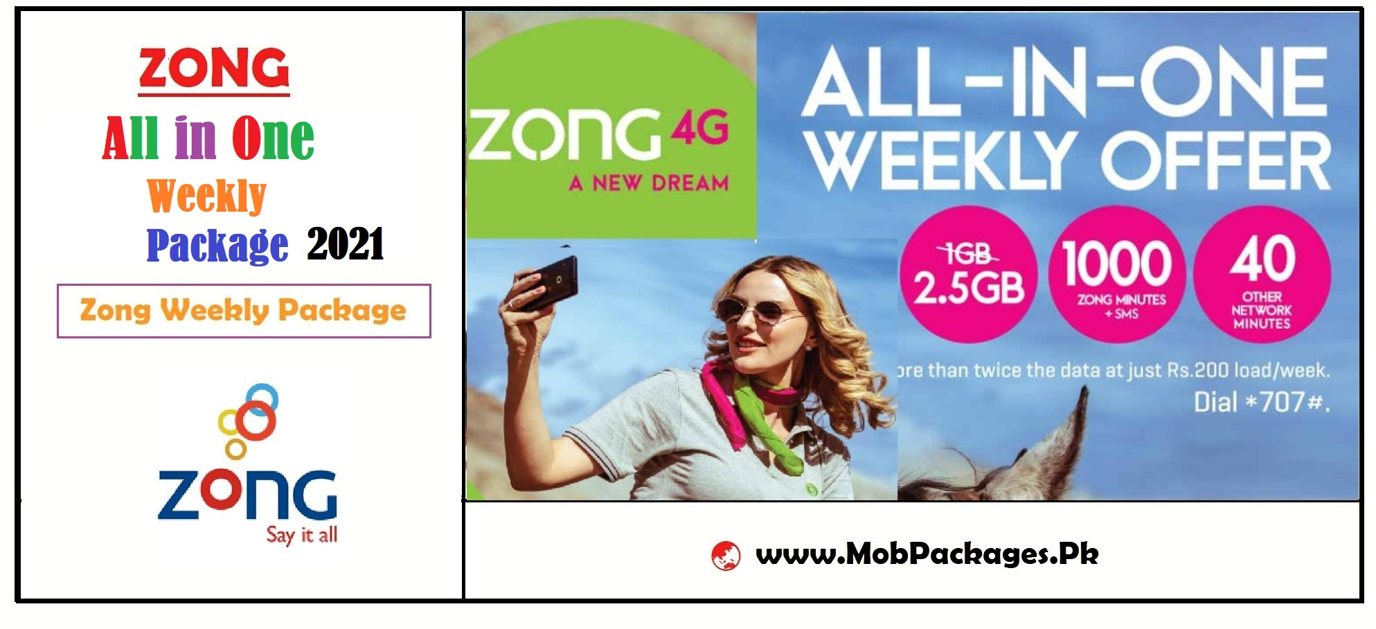 Zong All in One Weekly Package 2021