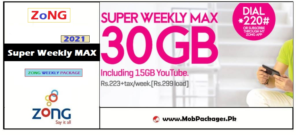 Zong Super Weekly MAX Package