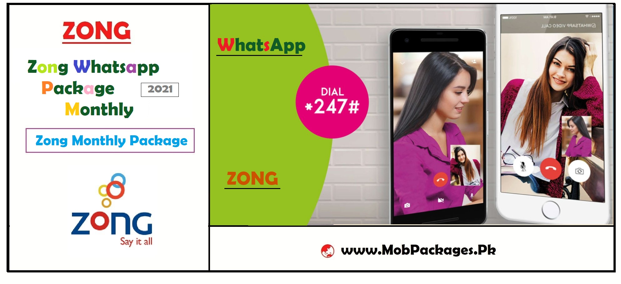 Zong Whatsapp Package 2021 Monthly