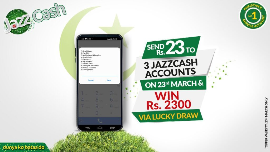 JazzCash Announces Lucky Drawn To Celebrate Pakistan Resolution Day 2021