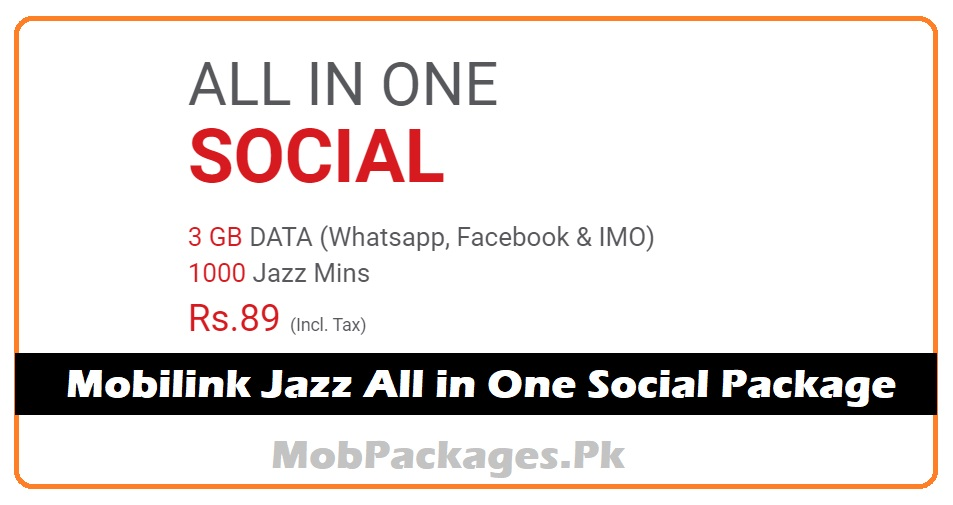 Mobilink Jazz All in One Social Package