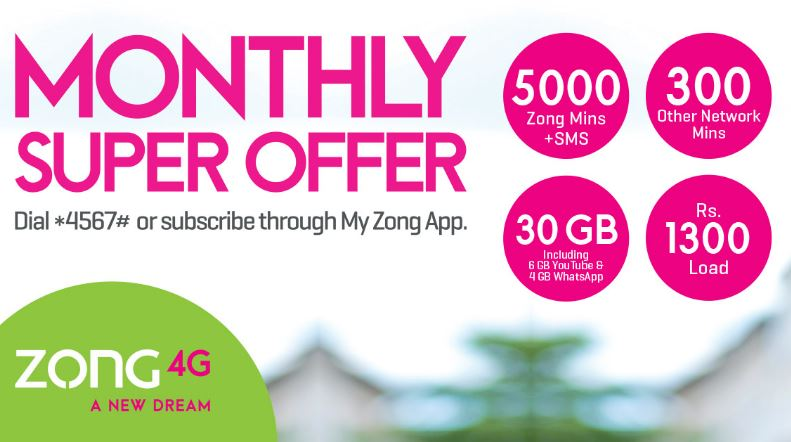 Zong Monthly Super Offer 2021