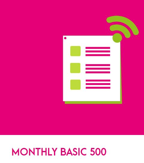 Zong Monthly Basic 500 Package 2021