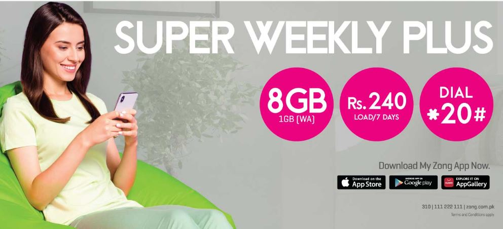 Zong Super Weekly Plus Offer 2021