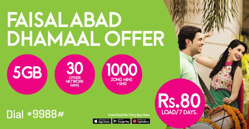 Zong Faisalabad Dhamaal Offer 2021